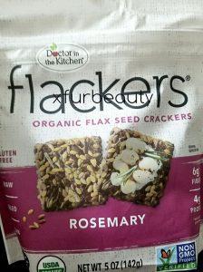Flackers Organic Flax Seed Crackers in Rosemary