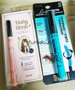 Dolly Wink Liquid Eyeliner & Milani Lash Trifecta
