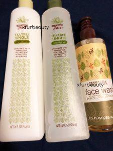Trader Joe's Tea Tree Face Wash, On the Right.