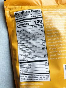 Trader Joe's Organic Chia Seed, Nutrition Facts