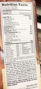 Clif White Chocolate Macadamia Bar, Nutrition Facts
