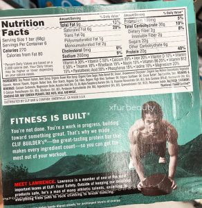 Clif Builder's Mint Chocolate Protein Bar, Nutrition Facts