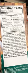Clif Oatmeal Raisin Walnut Bar, Nutrition Facts