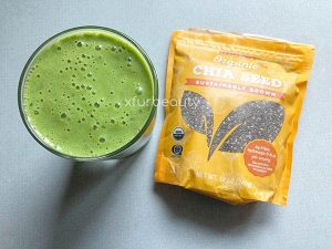 My Healthy Green Smoothie with Trader Joe's Organic Chia Seed.