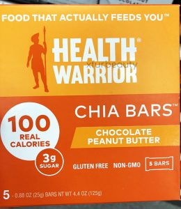Health Warrior Chia Chocolate Peanut Butter Bars, New Box Design