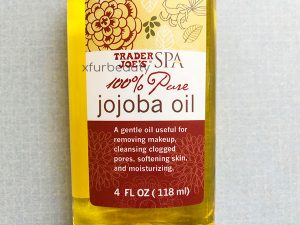 A brand new bottle of Trader Joe's SPA 100% Pure Jojoba Oil