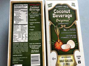 Trader Joe's Non-Dairy Coconut Beverage, Nutrition Facts