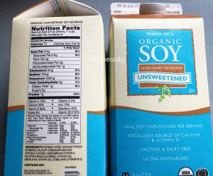 Trader Joe's Unsweetened Organic Soy Non-Dairy Beverage, Nutrition Facts