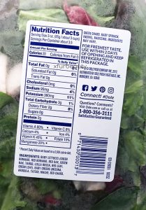 Spring Mix, Nutrition Facts