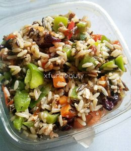Thai Wild Rice Salad for Lunch.