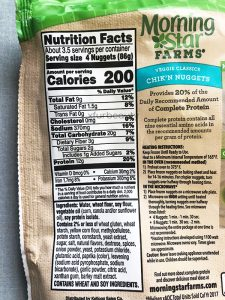 MorningStar Farms Chik'n Nuggets, Nutrition Facts & Ingredients
