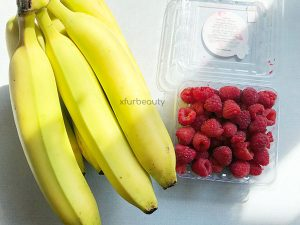 Bananas, Raspberries