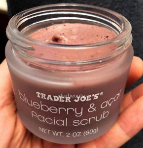 Exfoliate for a clearer, smoother complexion! Trader Joe's Blueberry & Acai Facial Scrub