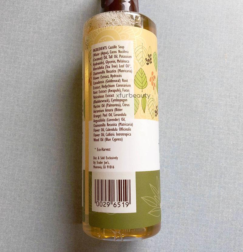 Trader Joe S Spa Face Wash With Tea Tree Oil