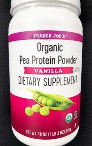 Trader Joe's Organic Pea Protein Powder Vanilla