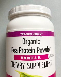 A brand new container of Trader Joe's Organic Pea Protein Powder Vanilla!