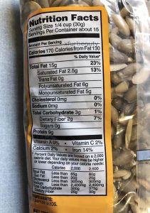 Trader Joe's Raw Pumpkin Seeds, Nutrition Facts & Ingredients