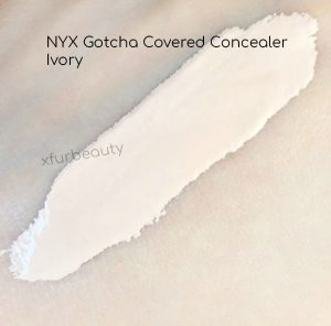 Swatch of NYX Gotcha Covered Concealer in Ivory