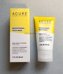 Review: Acure Brightening Face Mask