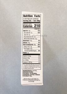 Larabar Coconut Cream Pie, Nutrition Facts & Ingredients