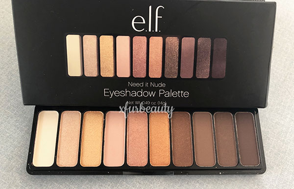 elf Need it Nude Eyeshadow Palette