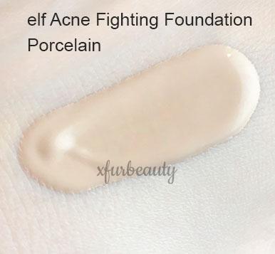 elf Acne Fighting Foundation in Porcelain
