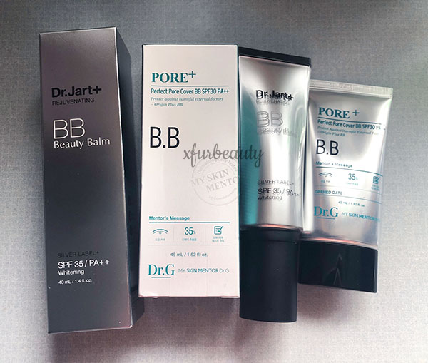 Dr Jart Rejuvenating BB Cream Dr G Perfect Pore Cover BB Cream