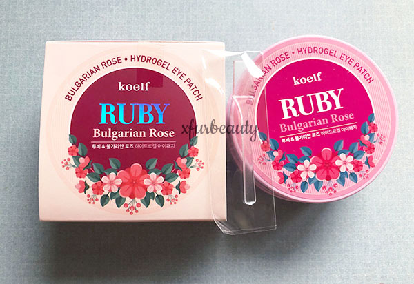 Koelf Ruby Bulgarian Rose Hydrogel Eye Patch
