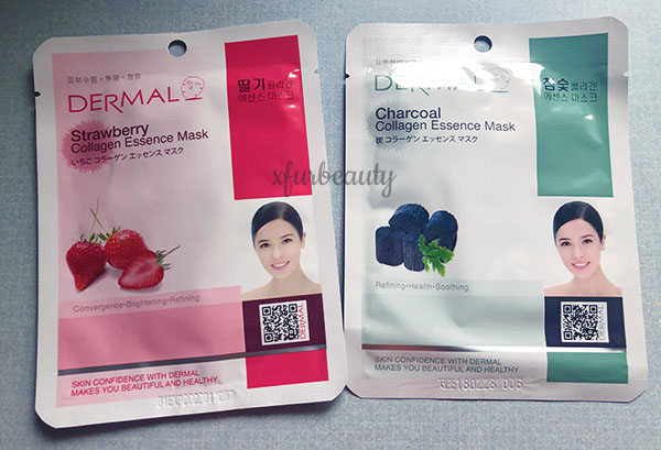 Dermal Strawberry Charcoal Sheet Mask