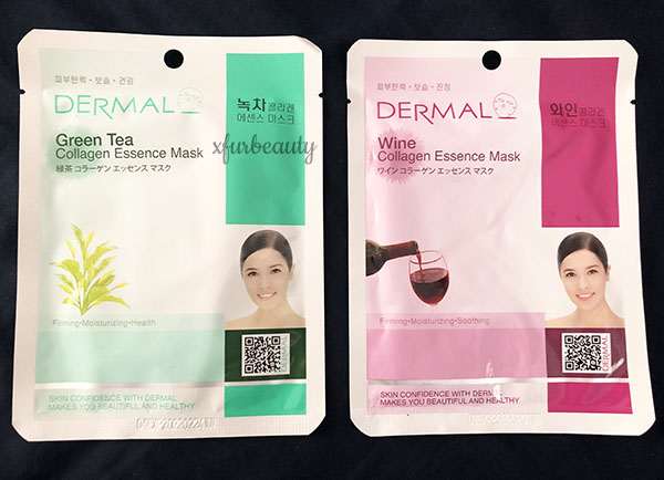 Dermal Green Tea & Wine Collagen Essence Mask