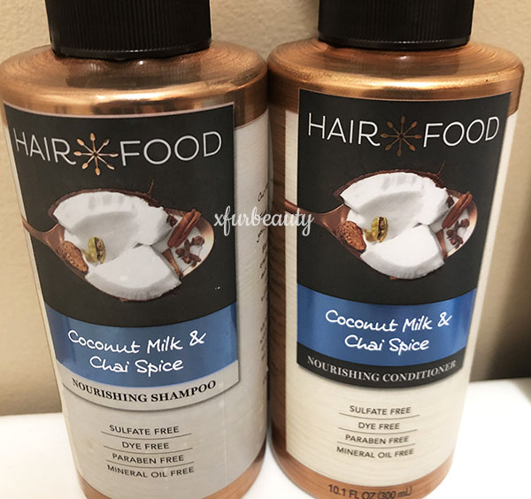 Hair Food Coconut Milk & Chai Spice Shampoo & Conditioner