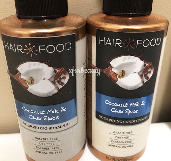 Hair Food Coconut Milk & Chai Spice Shampoo & Conditioner