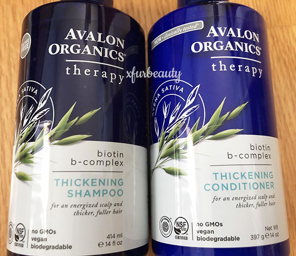 Avalon Organics Biotin Shampoo & Conditioner